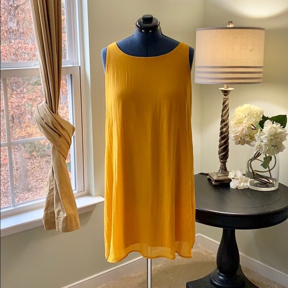 Tacera Dresses & Skirts - Tacera Mustard Sleeveless Dress Size 2X